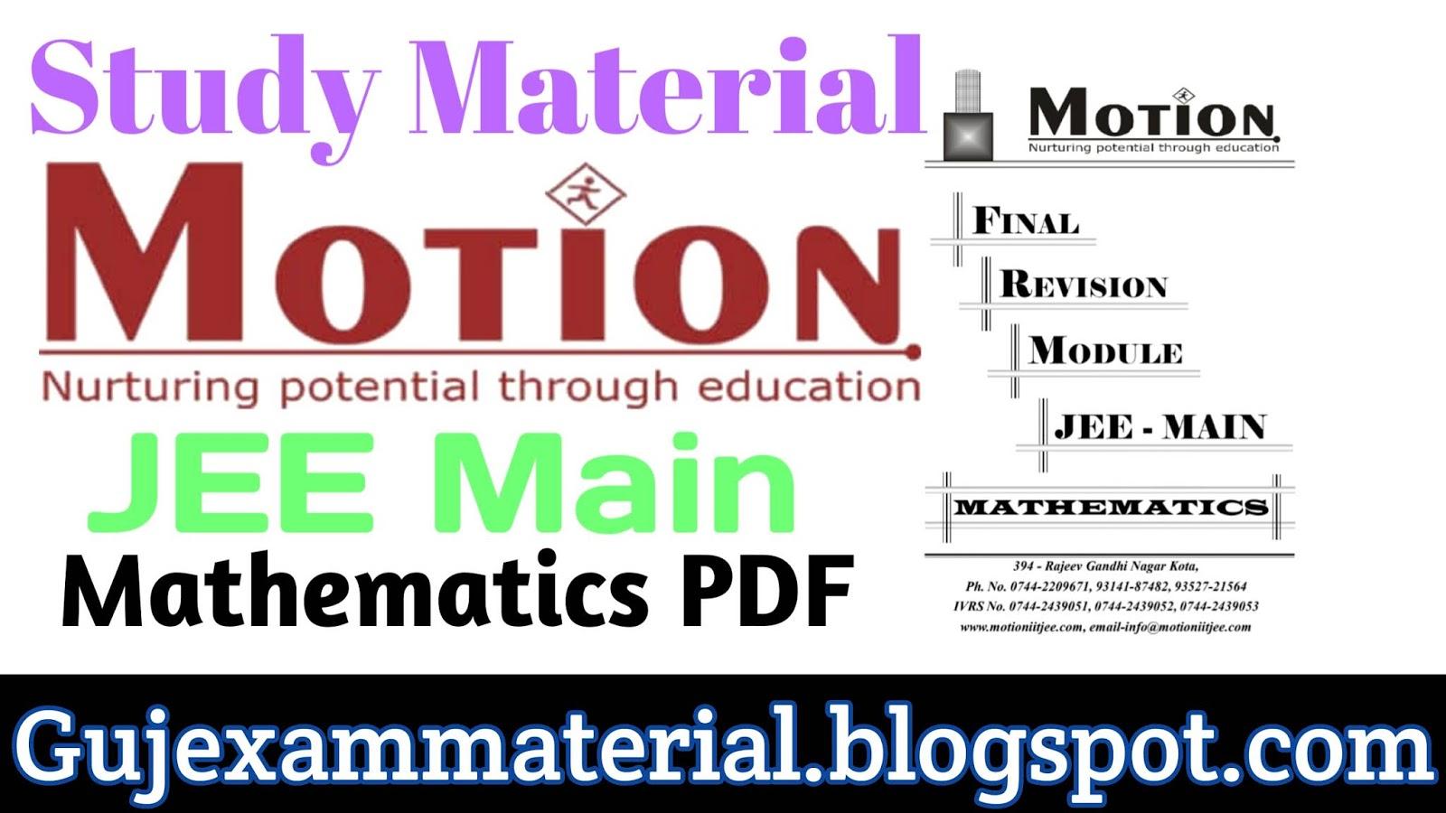Download Study Material Jee - Mariagegironde