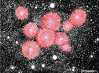 Cosmic Flower Garden Watercolor and Acrylic 2020