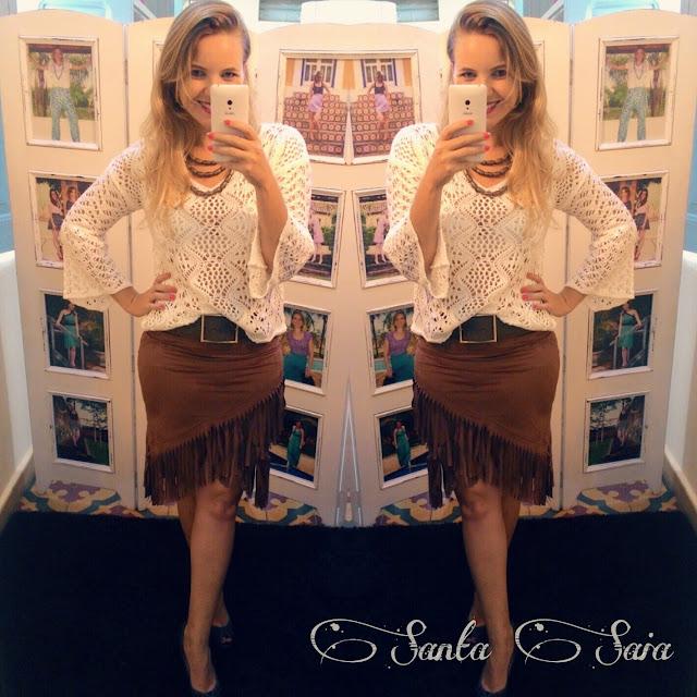 blusa de tricot Thassia Naves