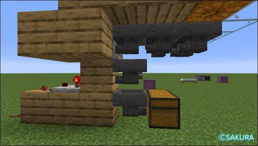 Minecraft 自動小麦畑兼取引所の自動仕分け機