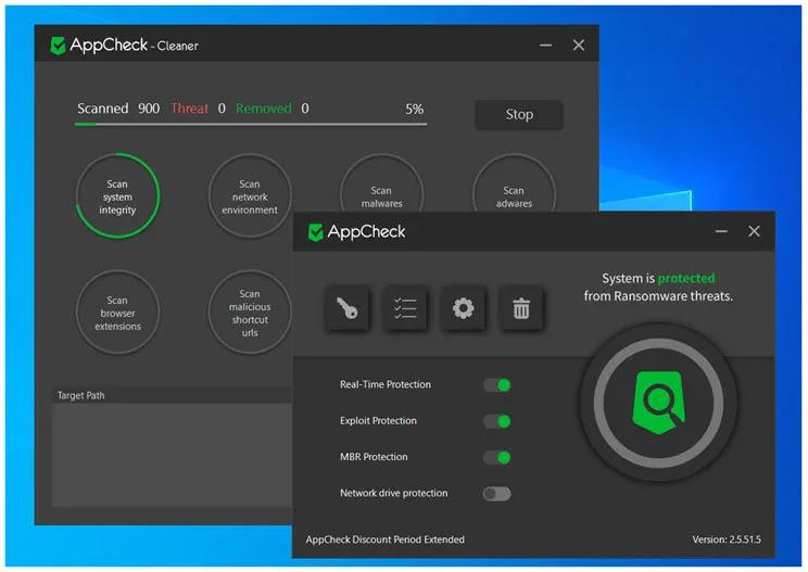 AppCheck Anti-Ransomware :  Προσταστατευτείτε από όλους τους τύπους Ramnsonware