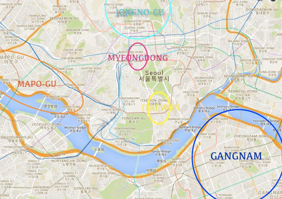 quartiers Séoul
