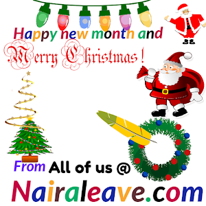 Wishing you merry Christmas and happy new month from all of us @nairaleave.com
