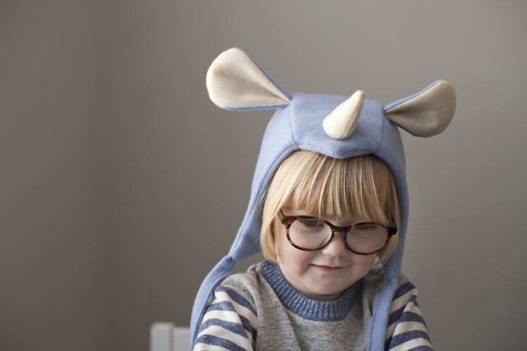 play imagination animal rhino hat bonnet