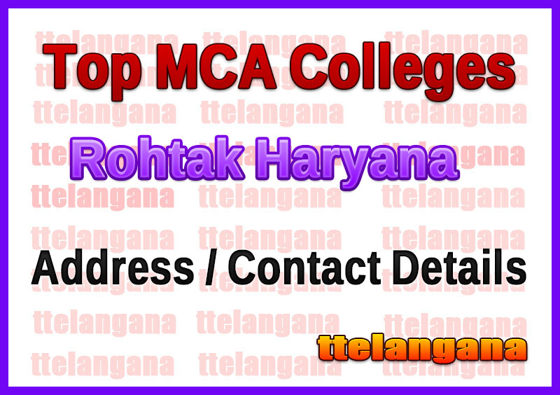 Top MCA Colleges in Rohtak Haryana