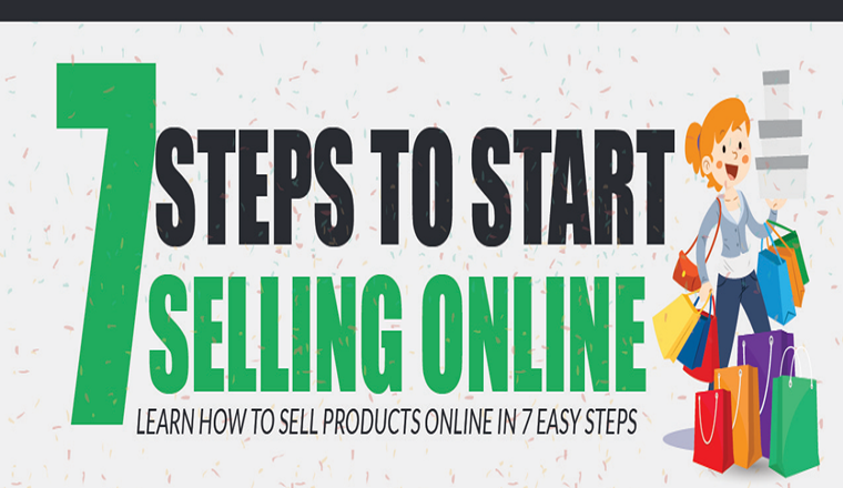 7 Steps to Start Selling Online #infographic