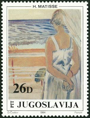 Yugoslavia 1984- Paintings in Yugoslav Museum - 'At the Window' by H. Matisse