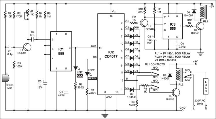 clap switch wiring diagram