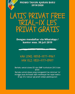 free trial latis privat, les privat gratis, les privat hemat