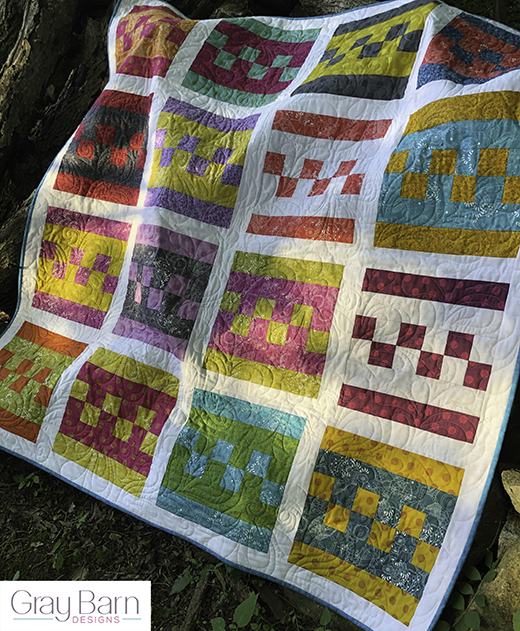 Stepping Stones Quilt designed by Cindy Kratzer from Gray Barn Designs