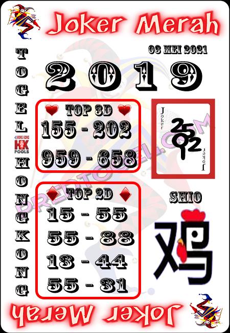 Prediksi Joker Merah HK Senin 03 Mei 2021