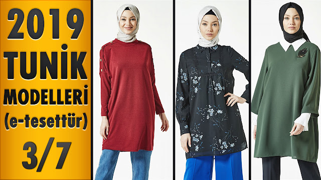 9a63f2d19075f 2019 Tunik Modelleri (e-tesettür) 3/7 | 2019 Tunic Models - Modanzi ...
