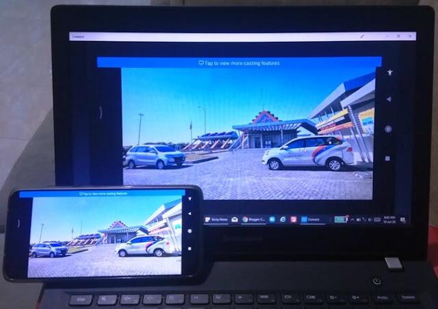 √ Cara Agar Layar di HP Bisa Ditampilkan di Laptop (Mirroring / Screen Cast) dengan Aplikasi Bawaan Windows 10