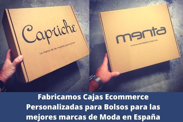 cajas ecommerce personalizadas para bolsos