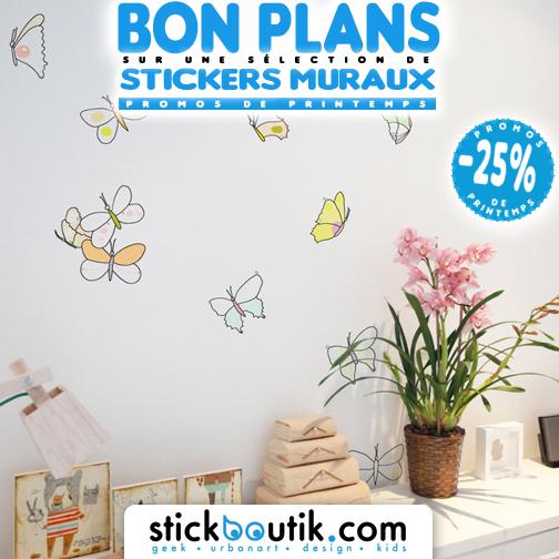 Stickboutik.com - Stickers Papillons Aquarelle à -25%