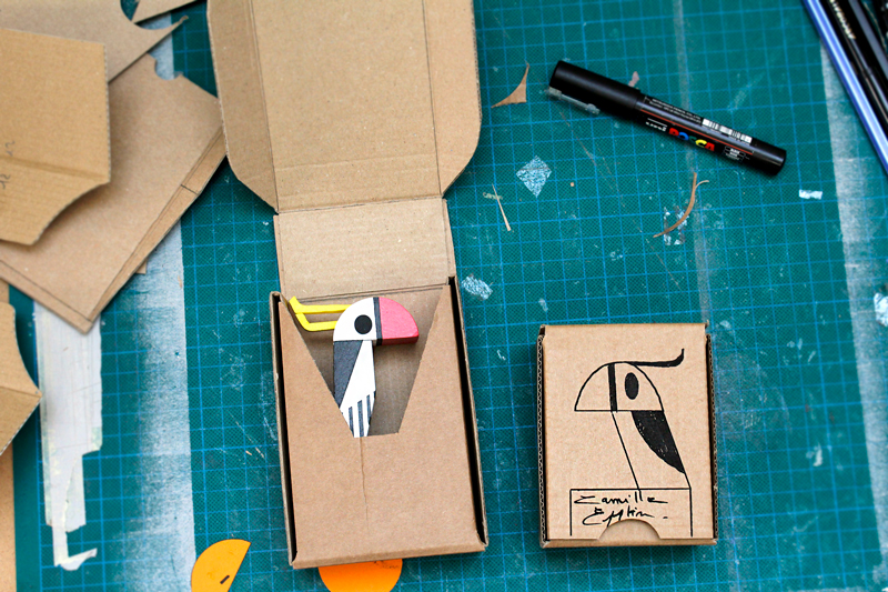 packaging en carton recyclé par Camille Epplin