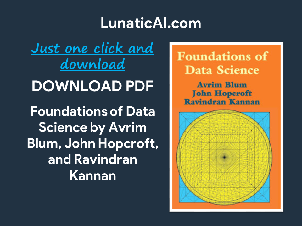 Foundations of Data Science Pdf