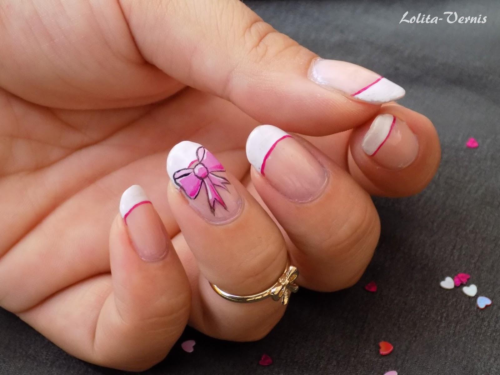 Lolita Vernis Nail Art Nail Art 43 French Manucure Avec Nœud