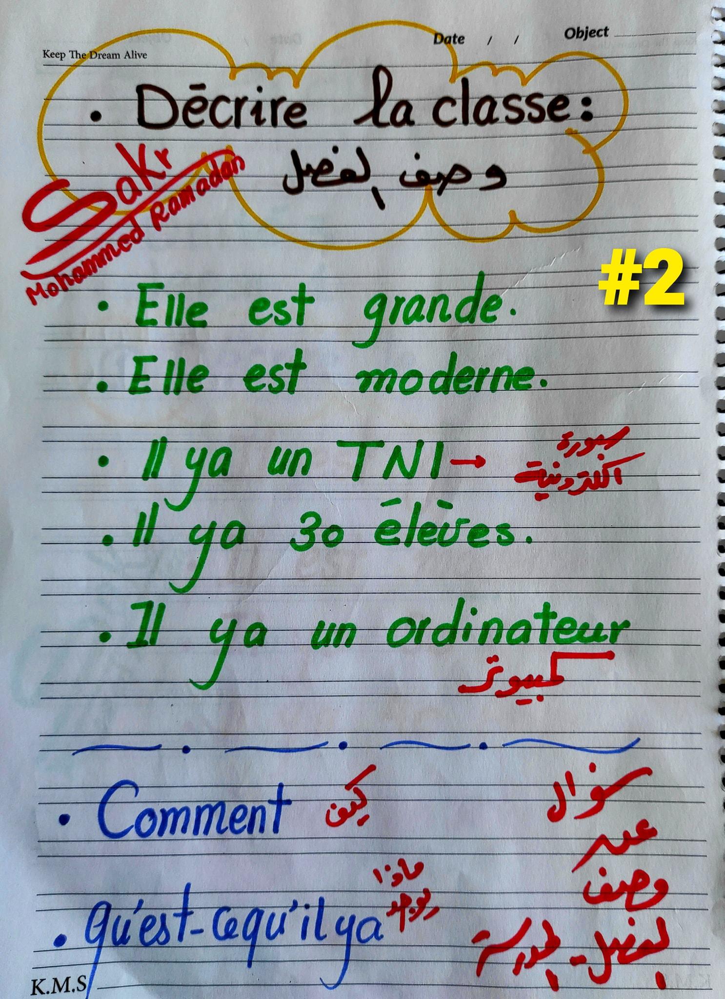 مراجعة شاملة لغة فرنسية للصف الاول الثانوي ترم ثاني.. أهم الكلمات والقواعد و 200 سؤال مجاب  1