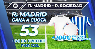 Megacuota Paston  Real Madrid vs Real Sociedad 1-3-2021