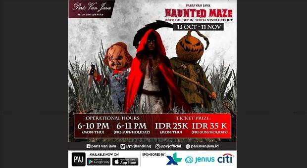 Halloween Haunted Maze Paris Van Java 2018