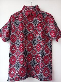 baju batik identitas sekolah pakaian batik