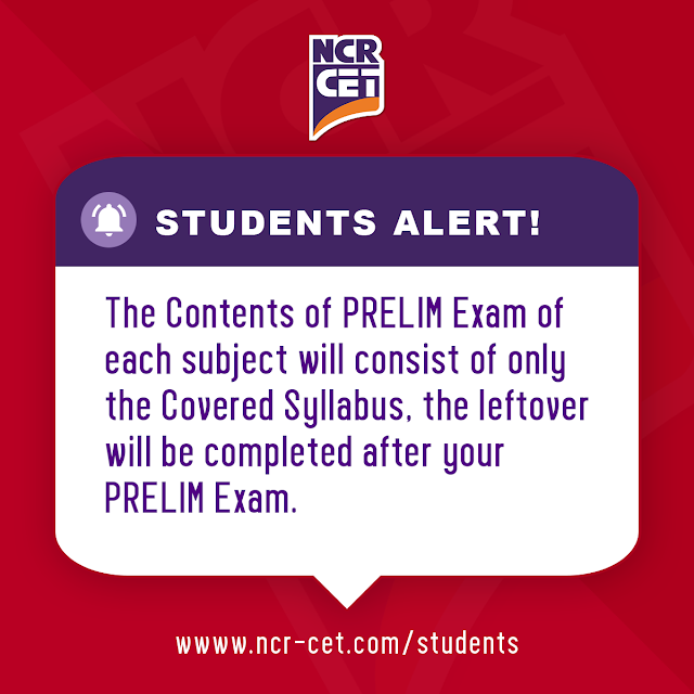 Students Alert! Prelim Exam Starting from 14th March 2020