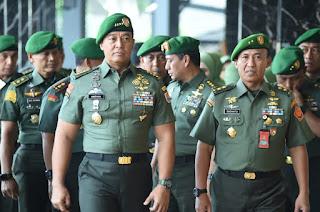 Kasad Terima Laporan Dankoopsus TNI dan 9 Pati TNI AD