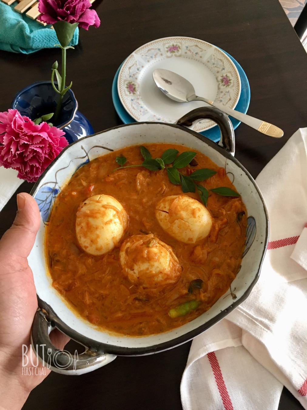 Mutta Roast | Egg Roast Curry in Coconut Milk