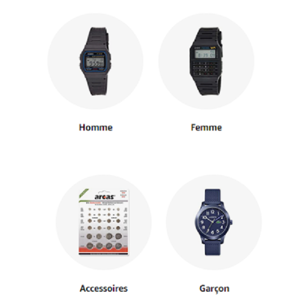 MONTRE : Amazon.fr - Achat en ligne dans un vaste choix sur la boutique Montres.