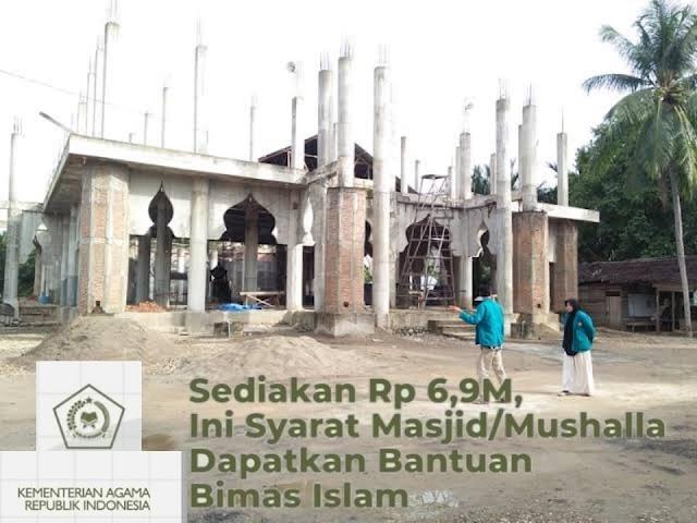 Syarat Mesjid/Mushalla Dapat Bantuan Bimas Islam.