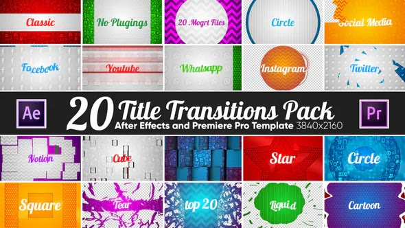 Videohive 20 Title Transitions Pack 22119825