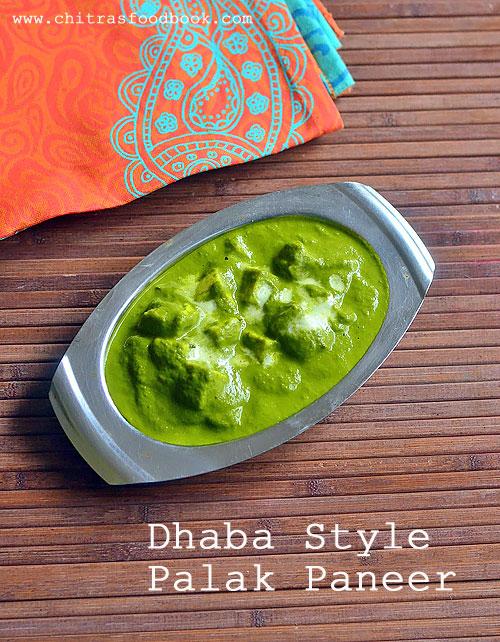 Punjabi dhaba palak paneer