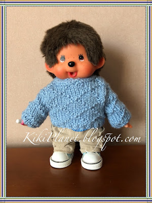 kiki monchhichi tricot vêtement pull knitting sweater fait main handmade