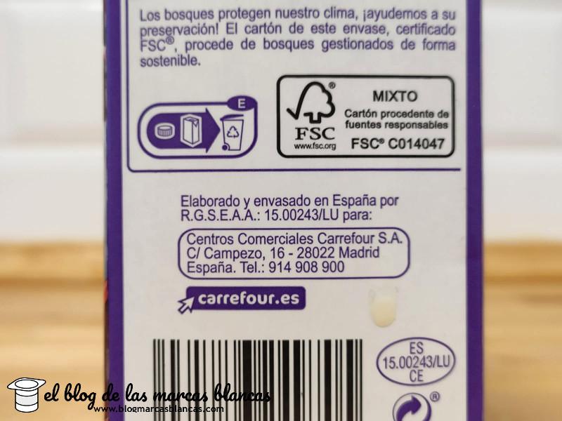 Fabricante de la Leche entera sin lactosa CARREFOUR - El Blog de las Marcas Blancas