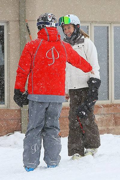 Laurent Fleury and Hilary Swank on vacation in Aspen
