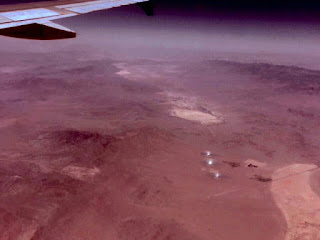 Solar power plants visible from airplane (Source: Palmia Observatory)