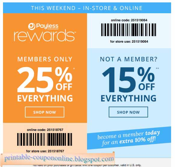 photograph relating to Payless Shoes Printable Coupon identified as Payless com printable coupon