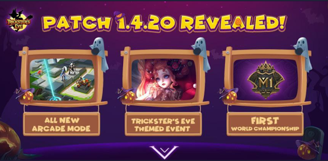Mobile Legends Patch 1.4.20 Mode Baru Arcade Event Tricskster Eve dan M1