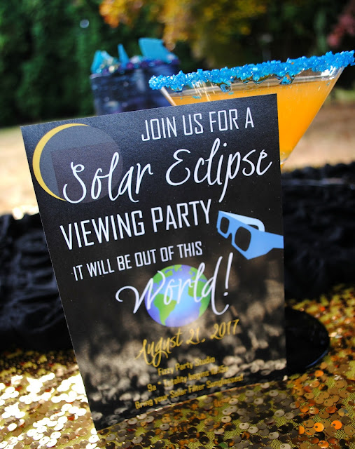 Solar Eclipse invitation by Bella Grey Designs at a party styled by Fizzy Party