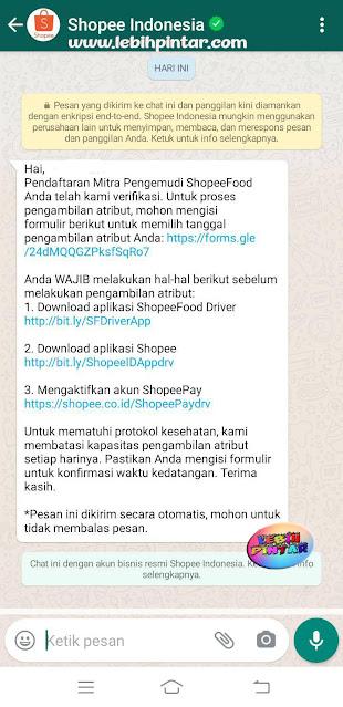 lokasi pengambilan atribut pendaftaran driver shopee food shopeefood