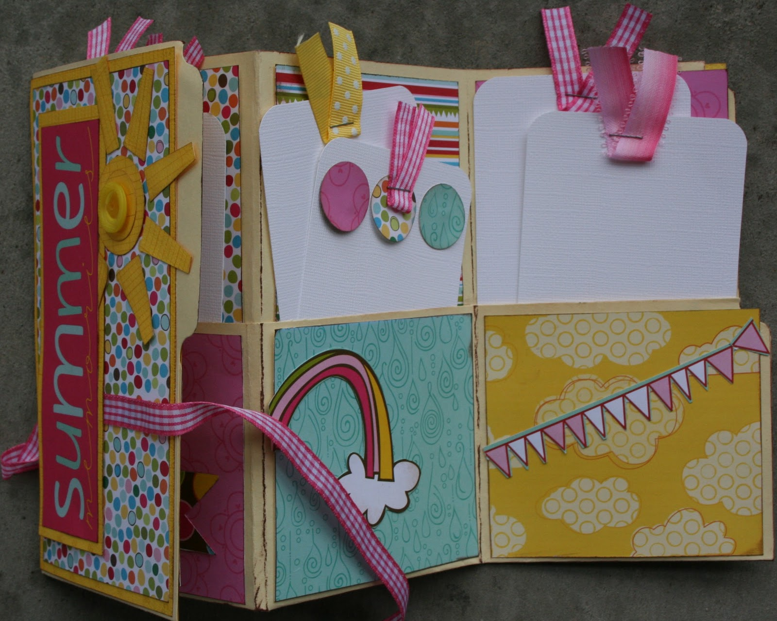 Decorar Album Scrap Paper Cottage File Folder Mini Album