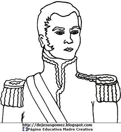 Don José de San Martín para colorear