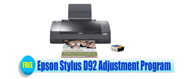 Epson Stylus D92 Adjustment Program