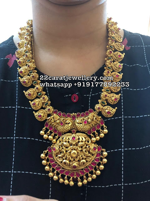Mango Necklace and Vaddanam in 925silver