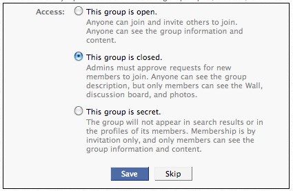 how to make a private group page on facebook
