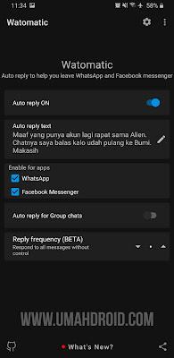 Watomatic Auto-reply Whatsapp & Facebook