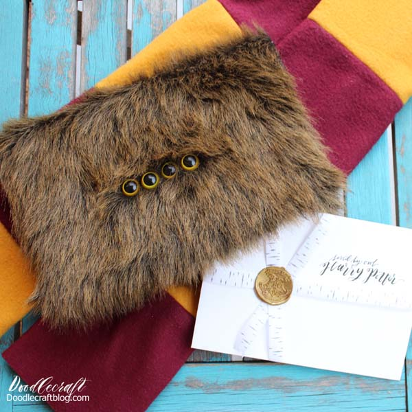 Harry Potter inspired Book of Monsters journal cover diy