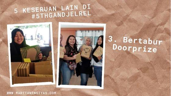 #5thGandjelRel bertabur doorprize