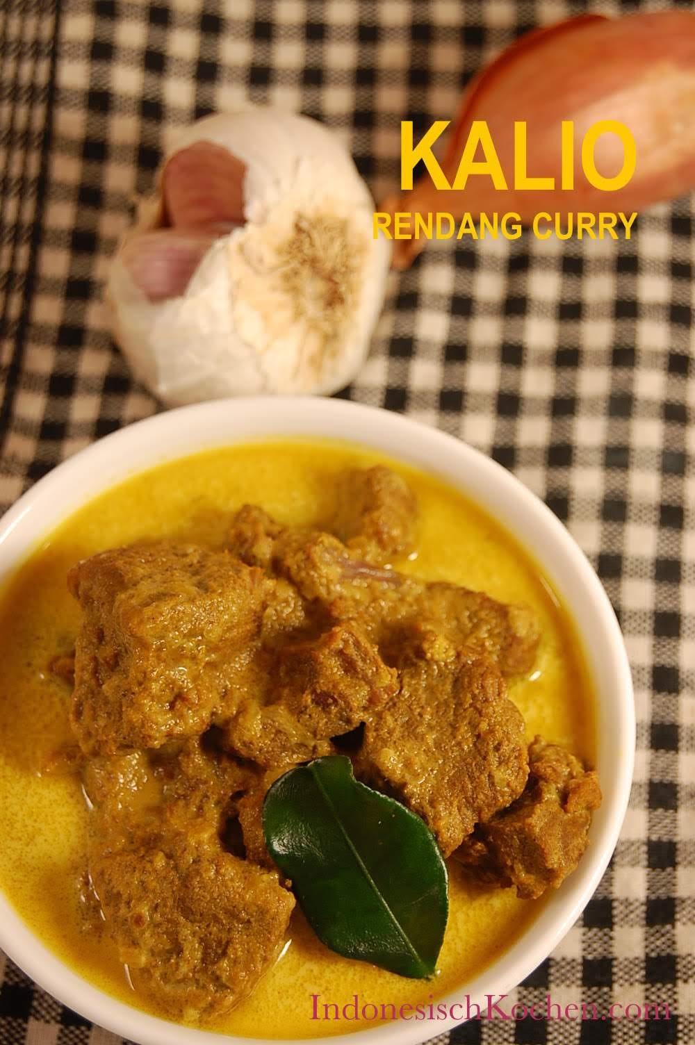 Rezept Kalio, Rendang Curry